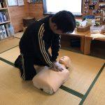 CPRの練習風景