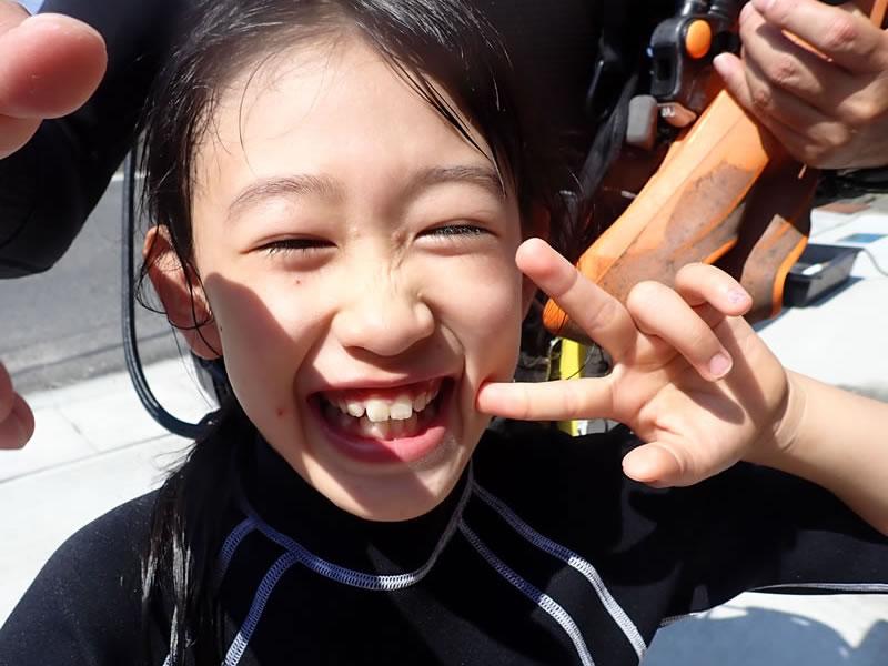 小学生の体験ダイビング